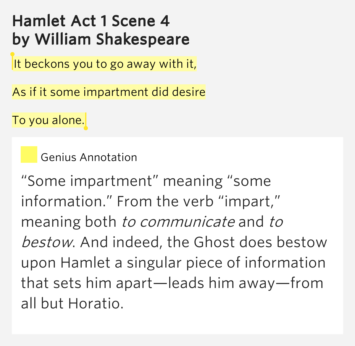 images as hidden meanings in shakespeares hamlet