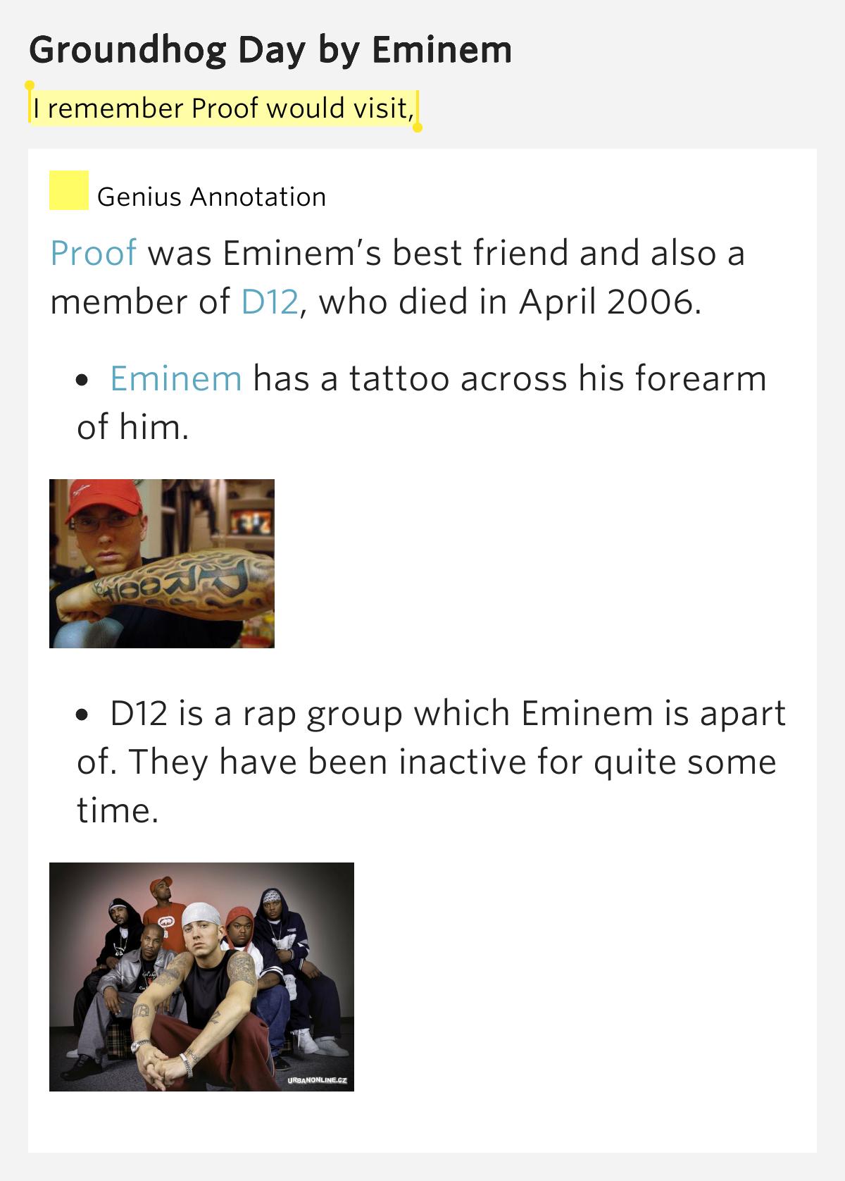 Eminem – Groundhog Day Lyrics | Genius Lyrics