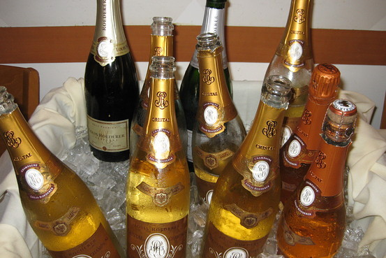 Expensive Champagne Cristal of Expensive Champagne