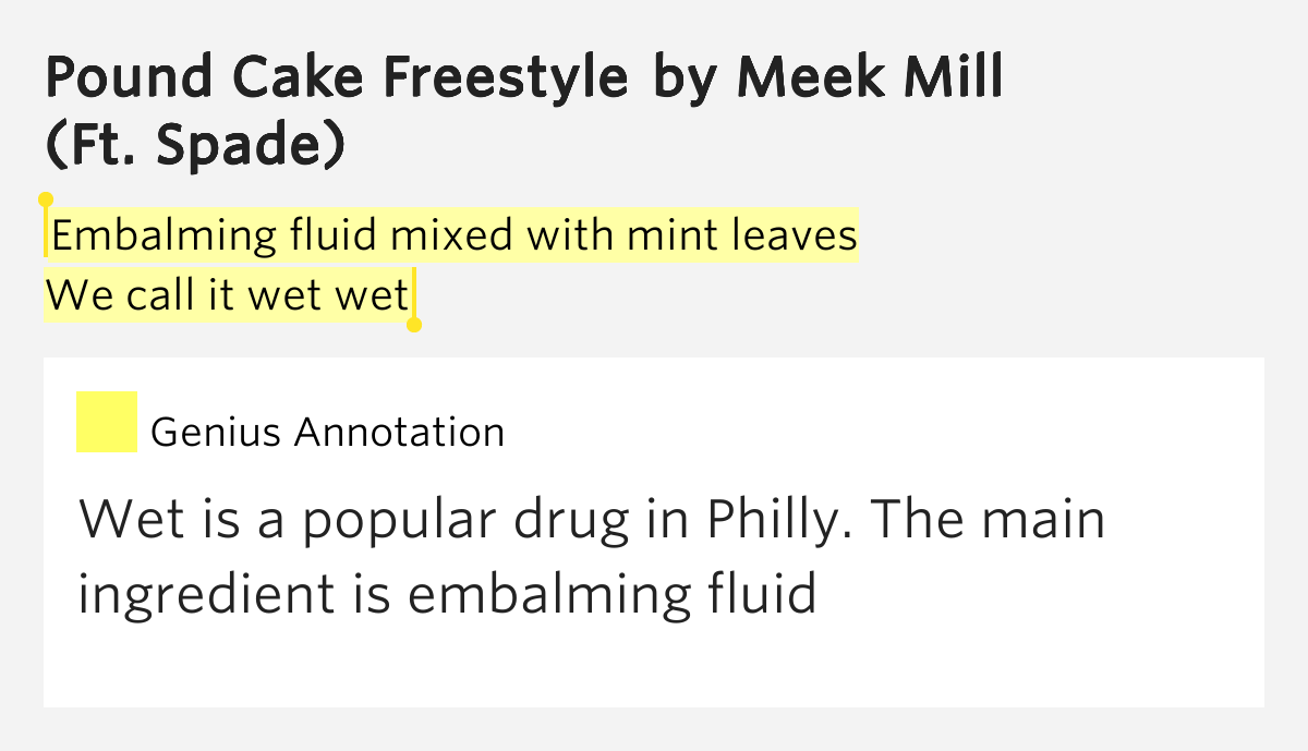 Meek Mill Pound Cake Lyrics