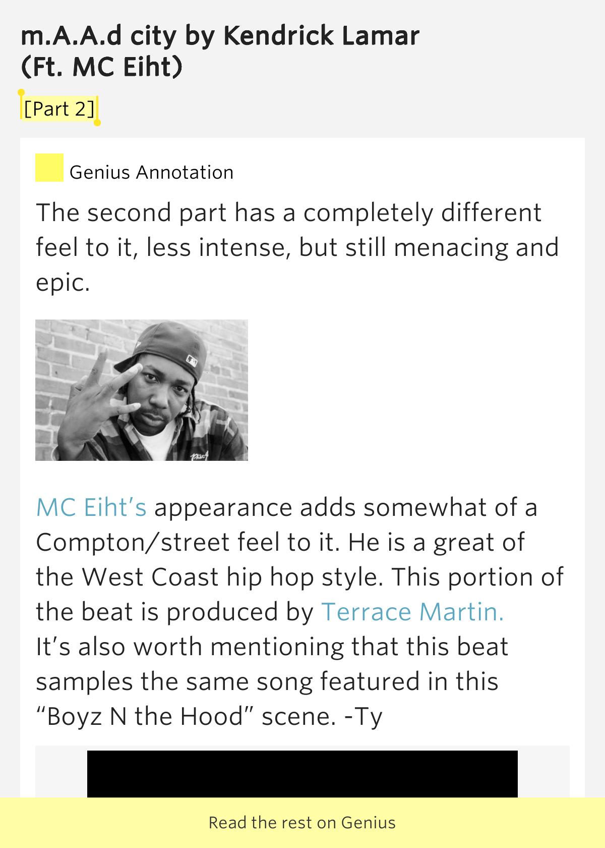 Maad city genius lyrics