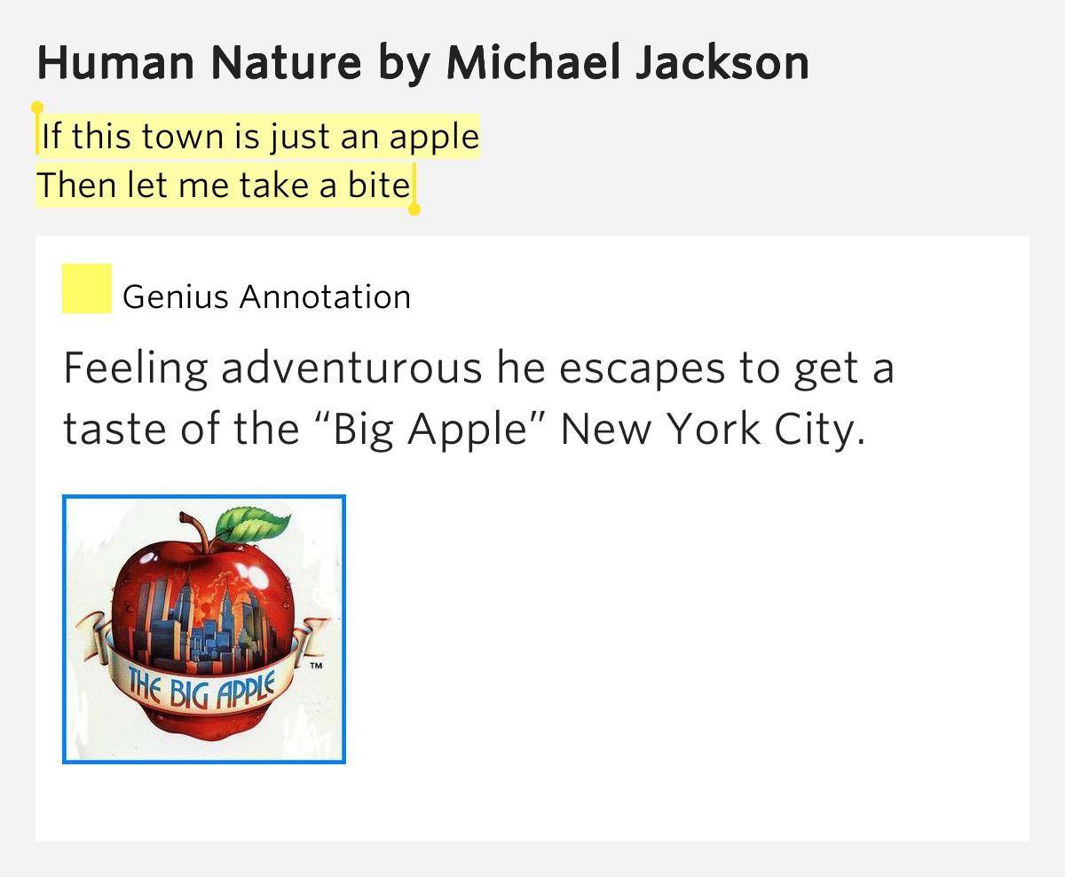 Lyrics Human Nature Michael Jackson Meaning