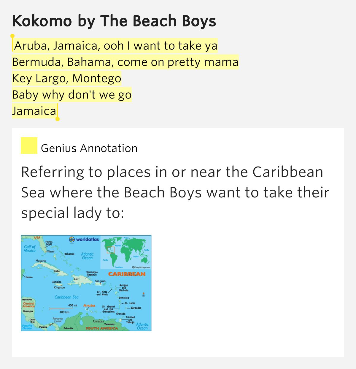 The Beach Boys - Kokomo (LYRICS) - YouTube