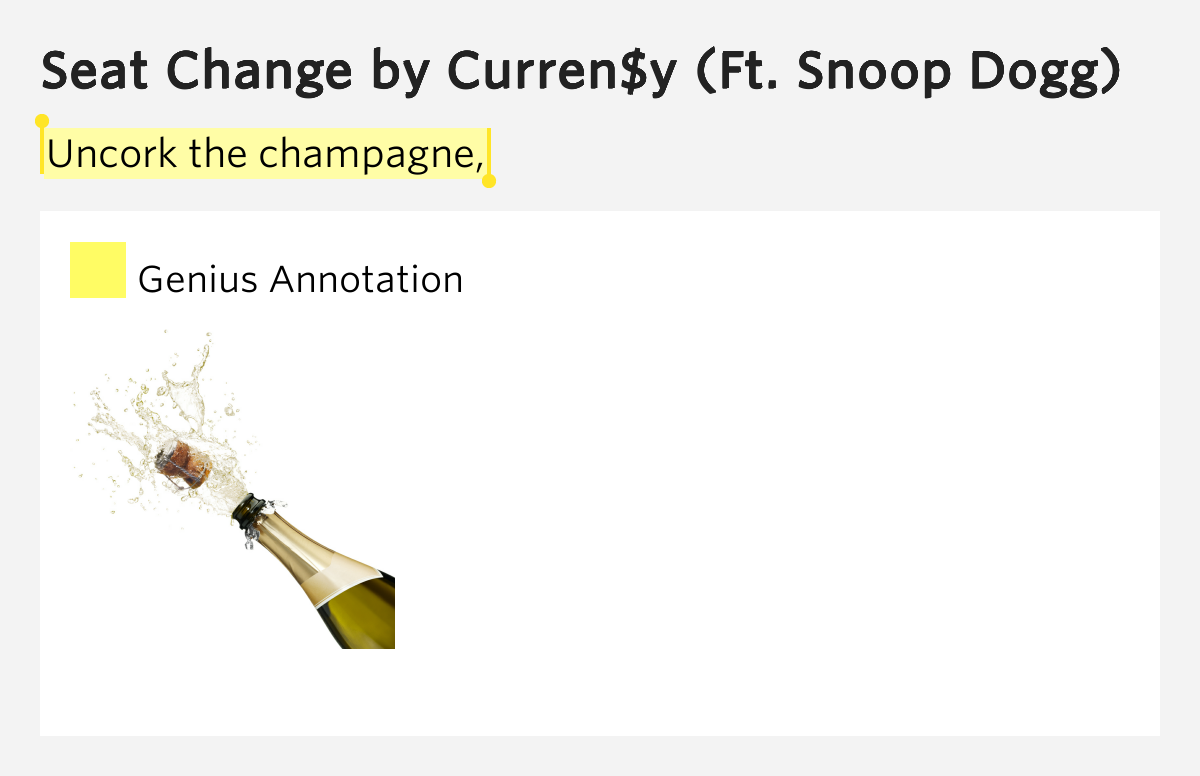 Uncork The Champagne Seat Change By Curren Y