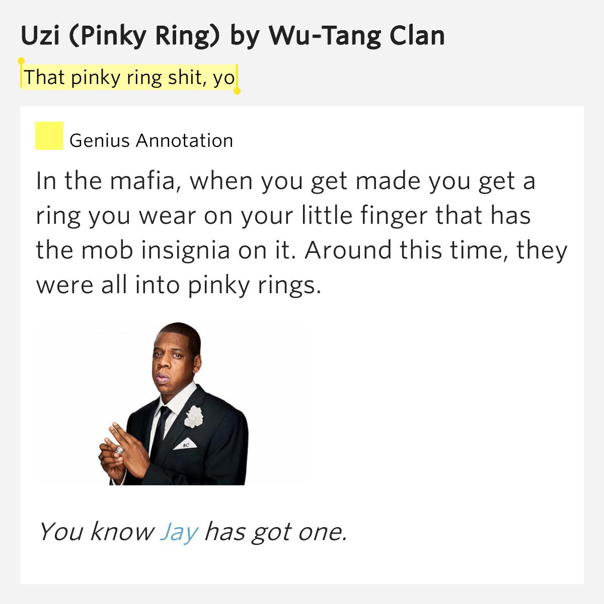 Wu Tang Clan Pinky Ring