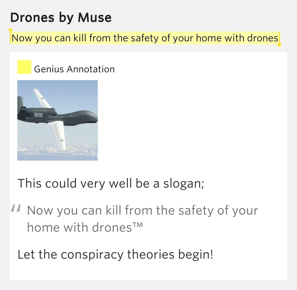 now you can kill from the safety of your home with drones