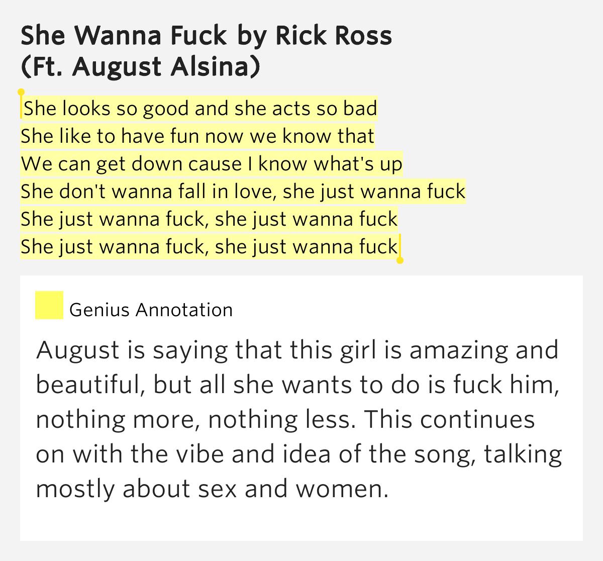 fuck i know lyric wanna