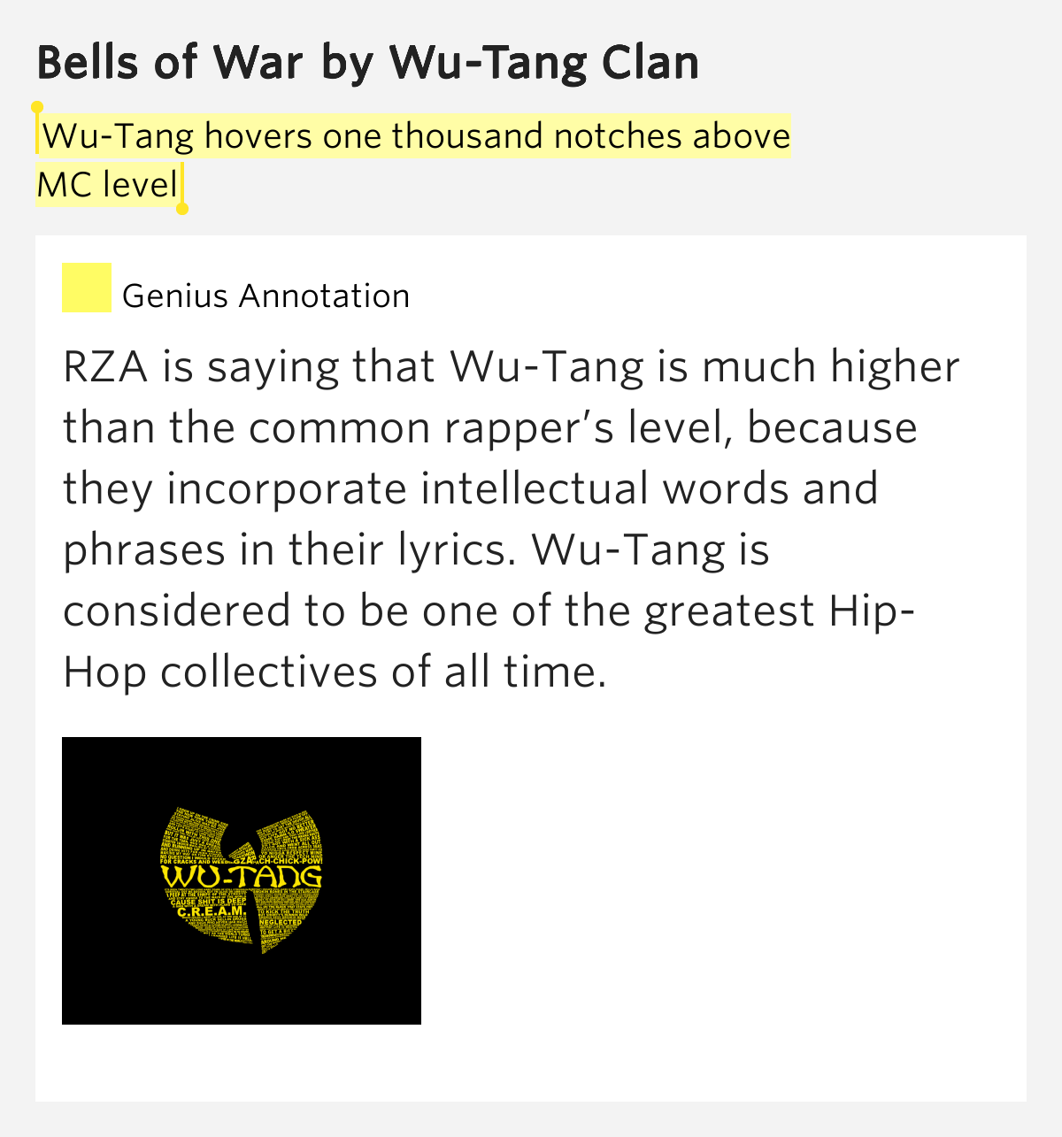 Favorite/Best Lines on Enter The Wu Tang (36 Chambers ...