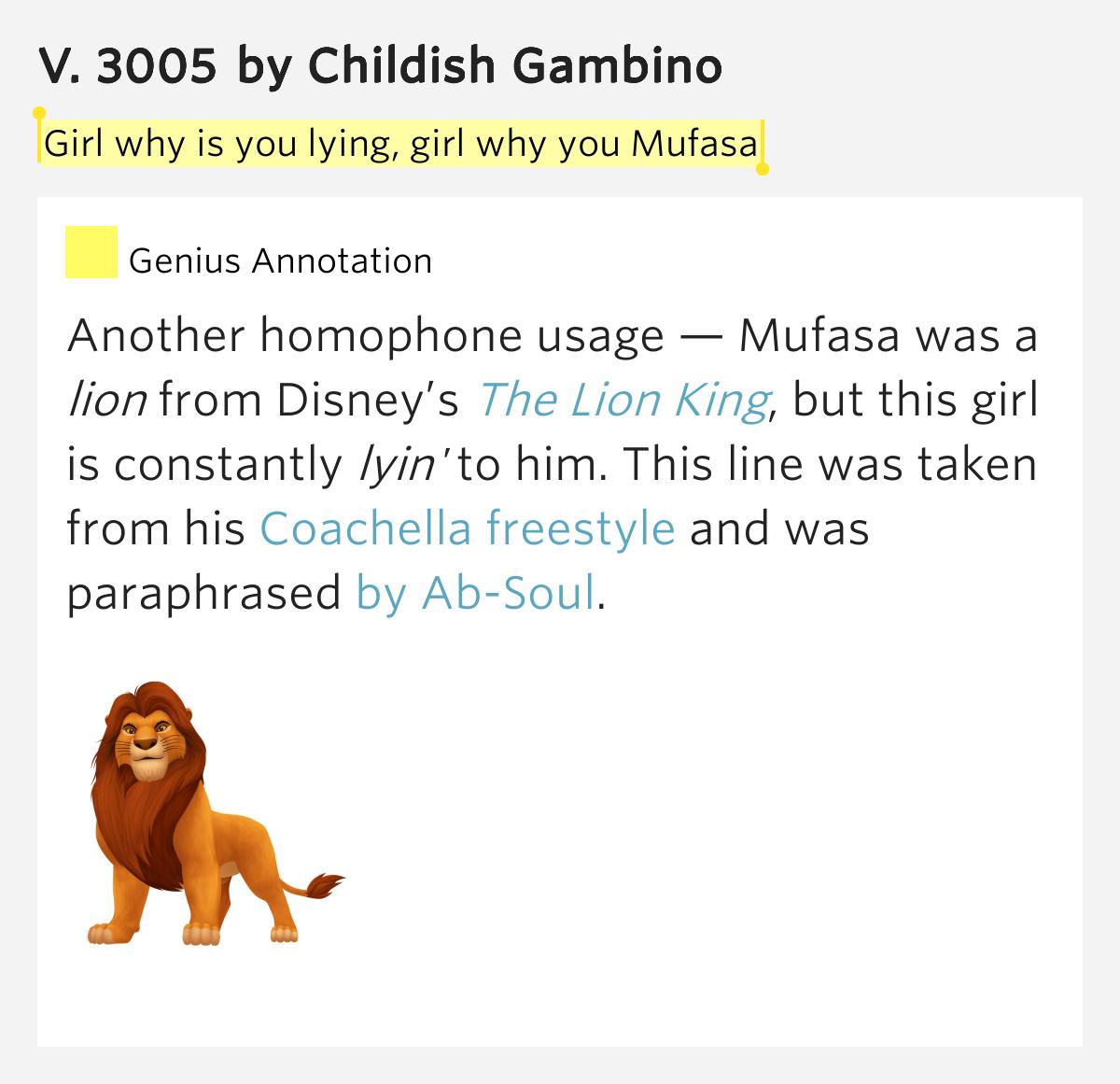 childish gambino lyrics 3005 - photo #14