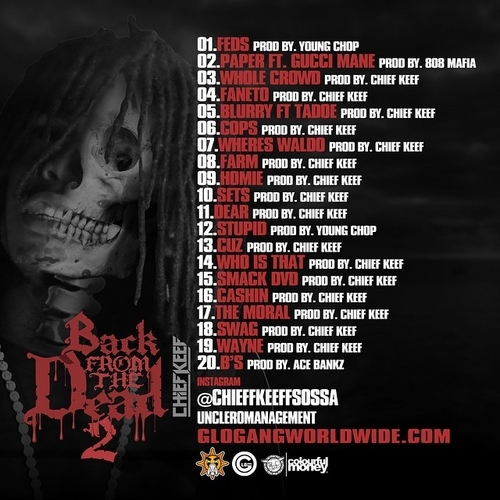 Chief Keef – Back From The Dead 2 [Album Art + Tracklist ...