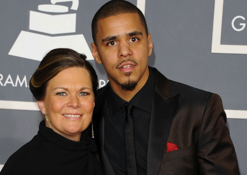 J Cole And His Family So dry your eyes momma...