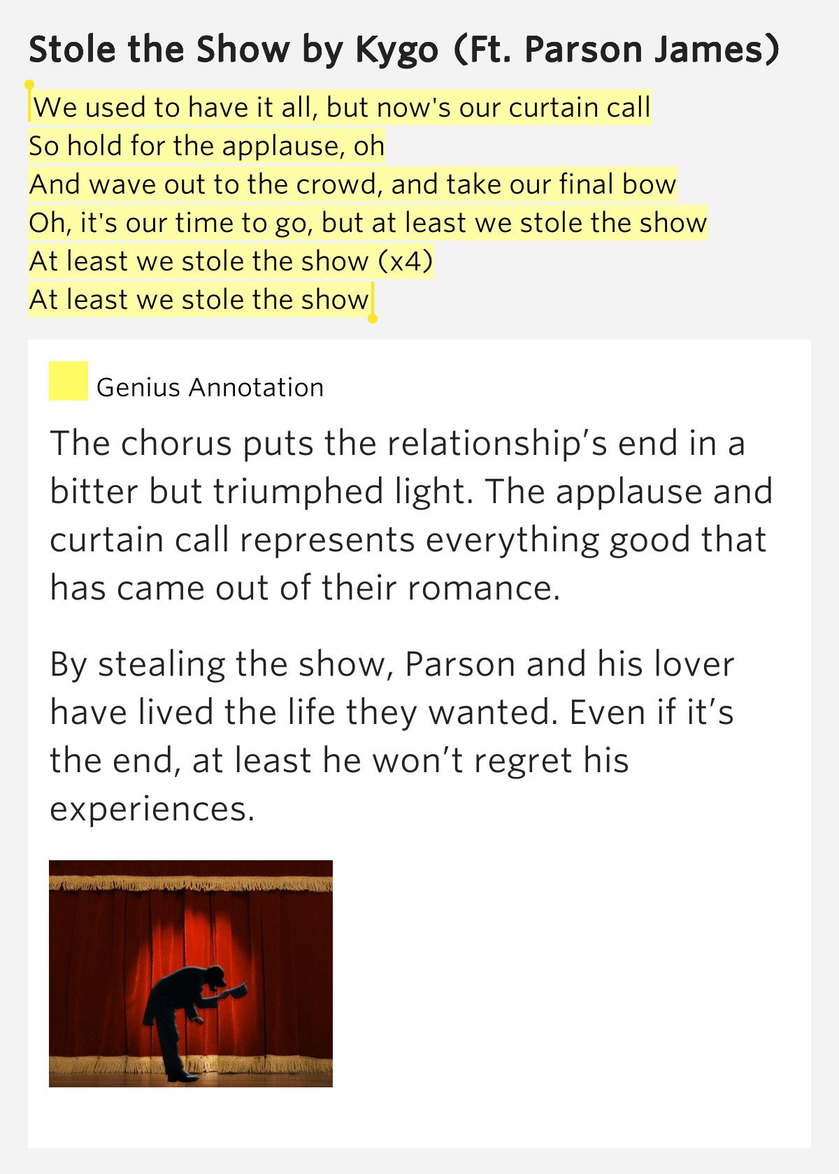 Songtext von Kygo - Stole The Show Lyrics
