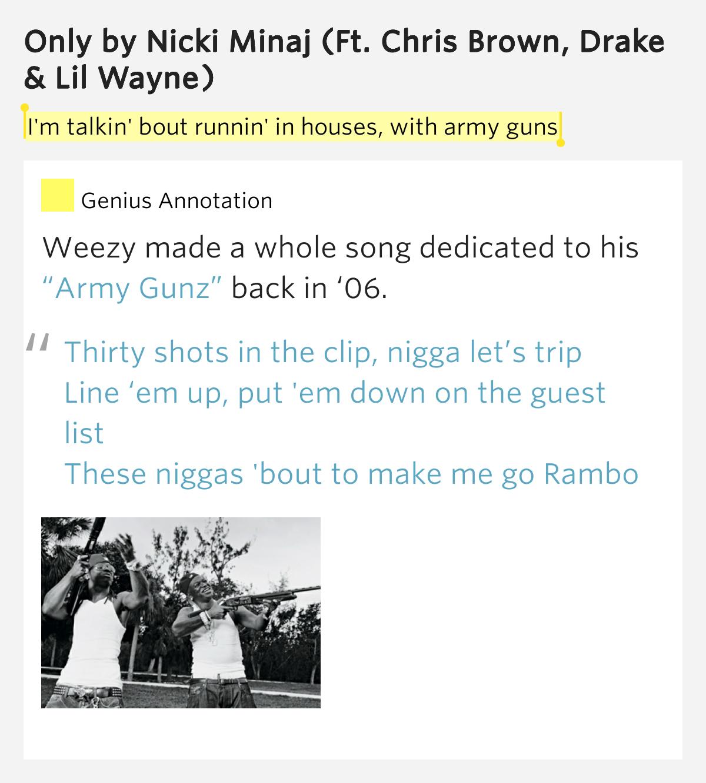Lil Wayne - Army Guns Lyrics | MetroLyrics