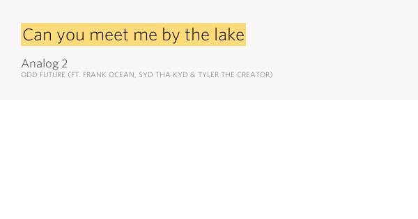 meet me at the bottom of ocean lyrics