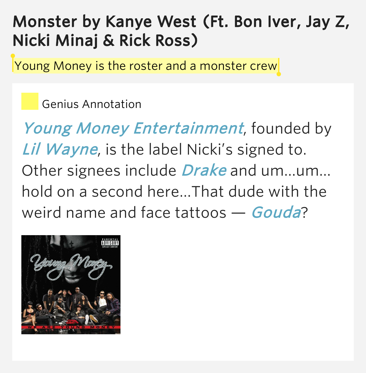 Young Money is the ros...