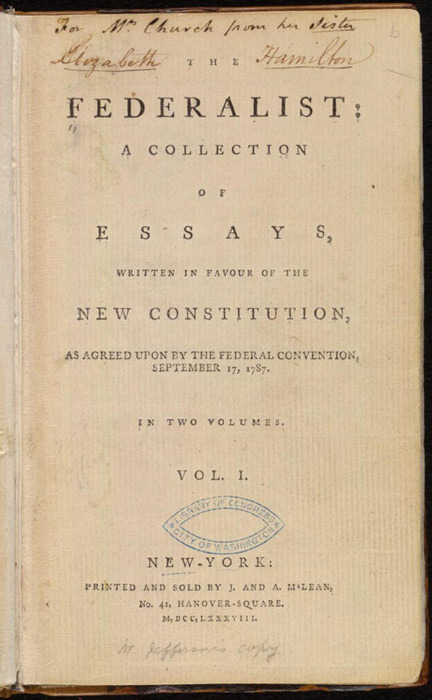 85 essays written by alexander hamilton Essays for the federalist papers the federalist papers essays are academic essays for citation these papers were written primarily by students and provide critical analysis of the federalist papers by alexander hamilton, john jay and james madison.