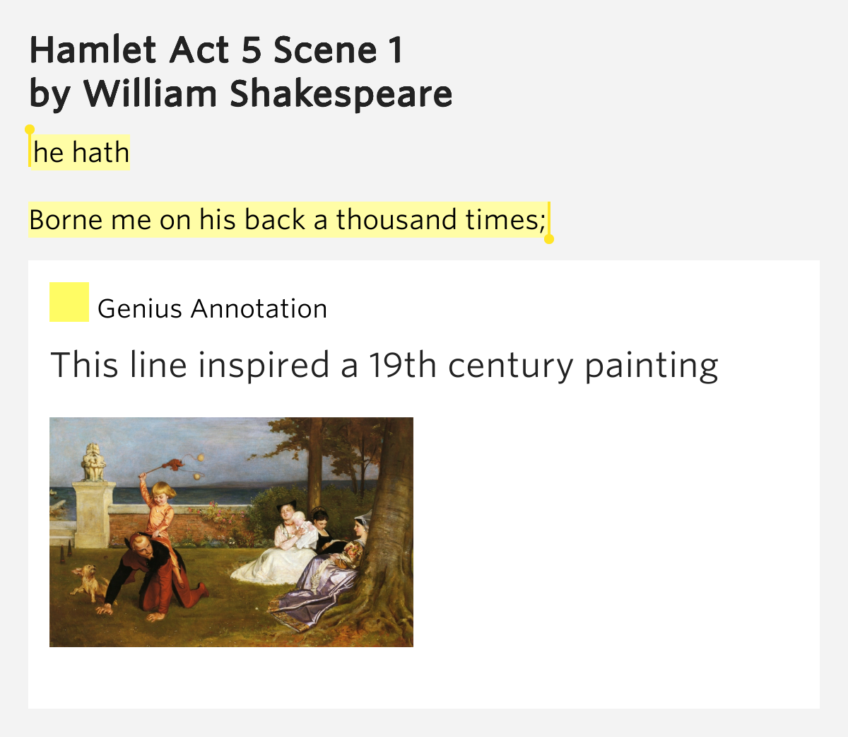 hamlet act 5 threads Home → no fear shakespeare → hamlet → act 5, scene 1 act 5, scene 1, page 2 take a study break 100 of the best colleges, summed up in a single sentence.