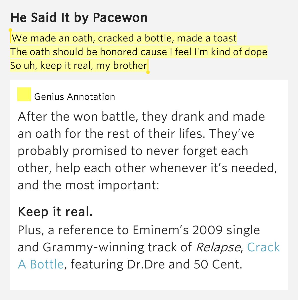 Bottom of the bottle lyrics
