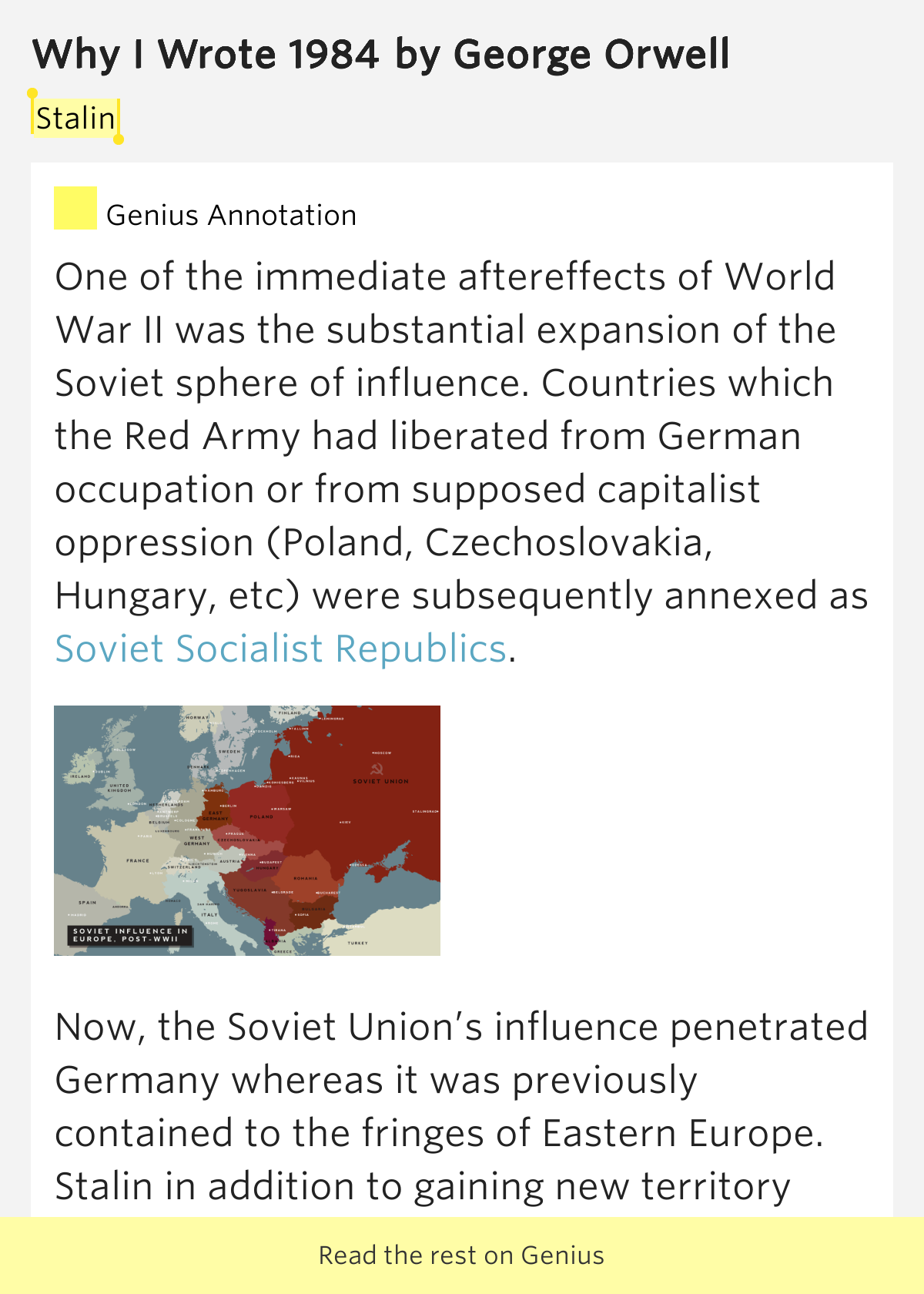 stalin why i wrote 1984 by george orwell