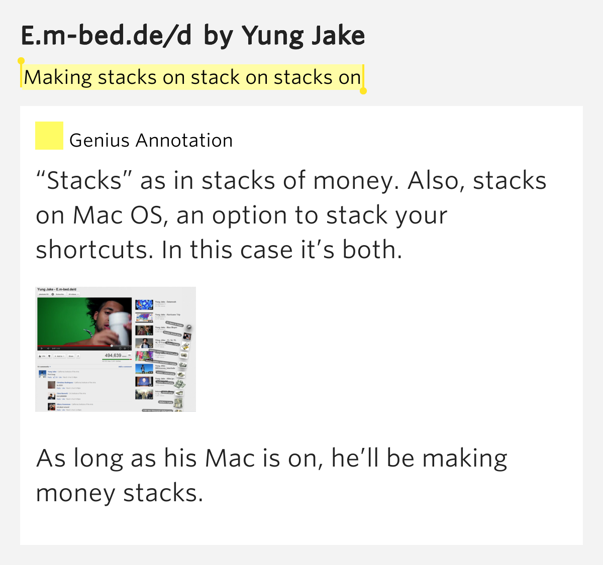 what is the meaning of stacks