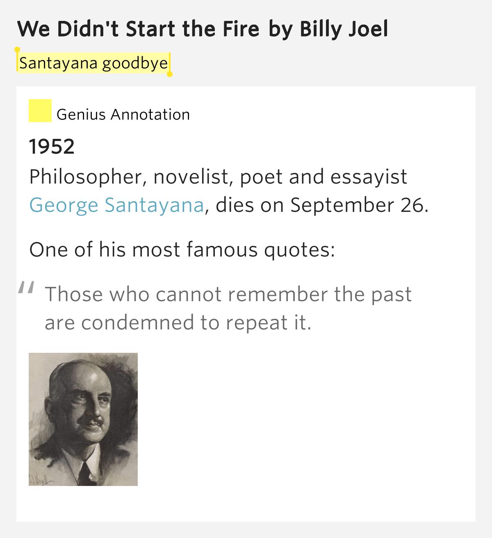 We Didn T Start The Fire Billy Joel: We Didn't Start The Fire By Billy Joel