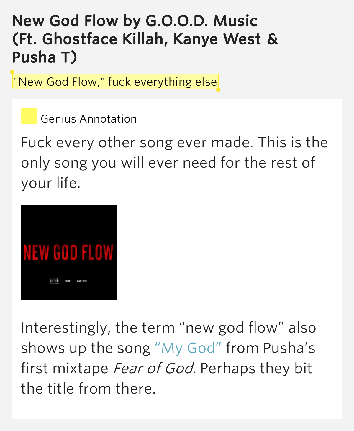 Lyrics fuck your god