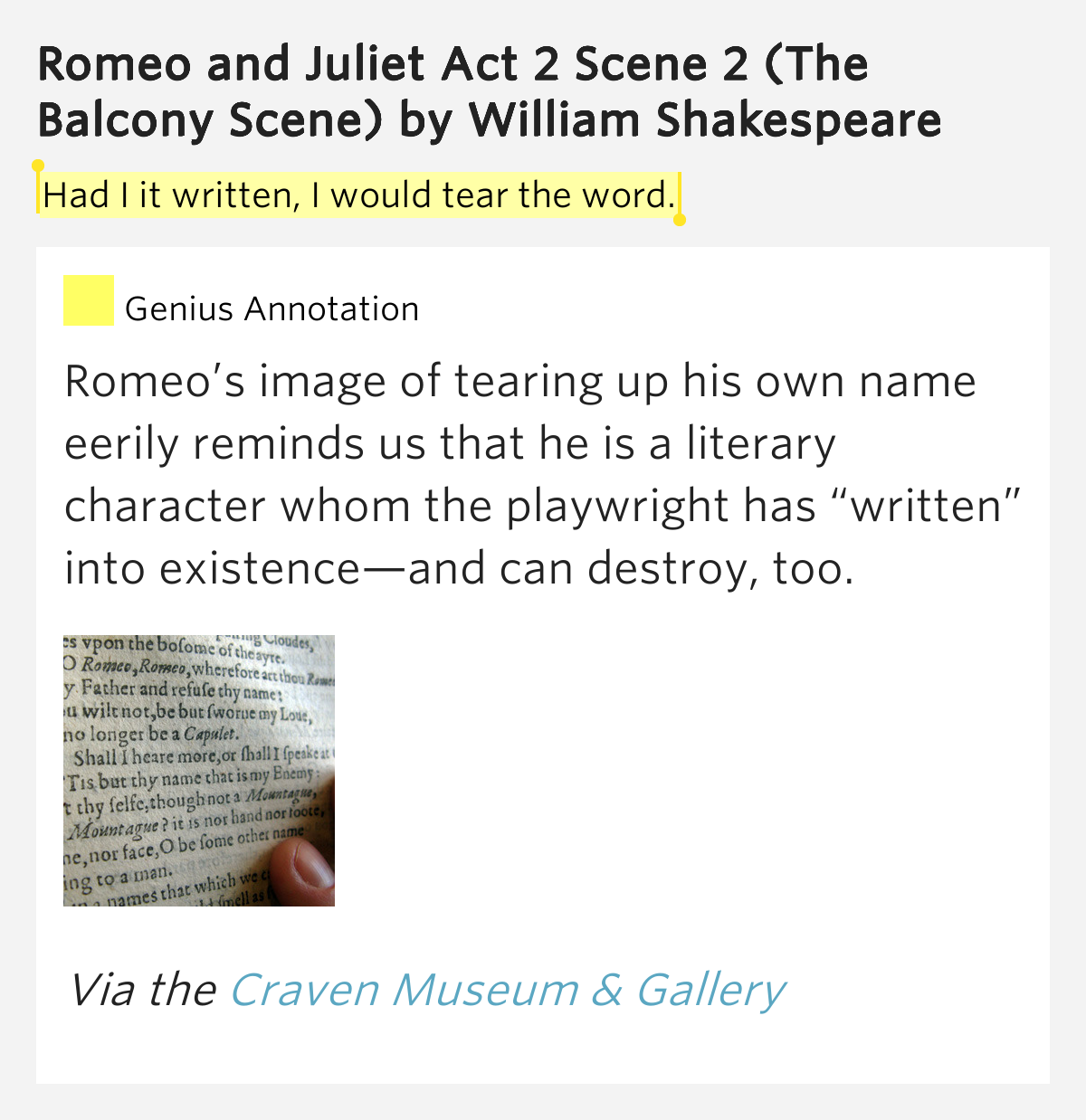 Had i it written i would tear the word romeo and for Definition of a balcony