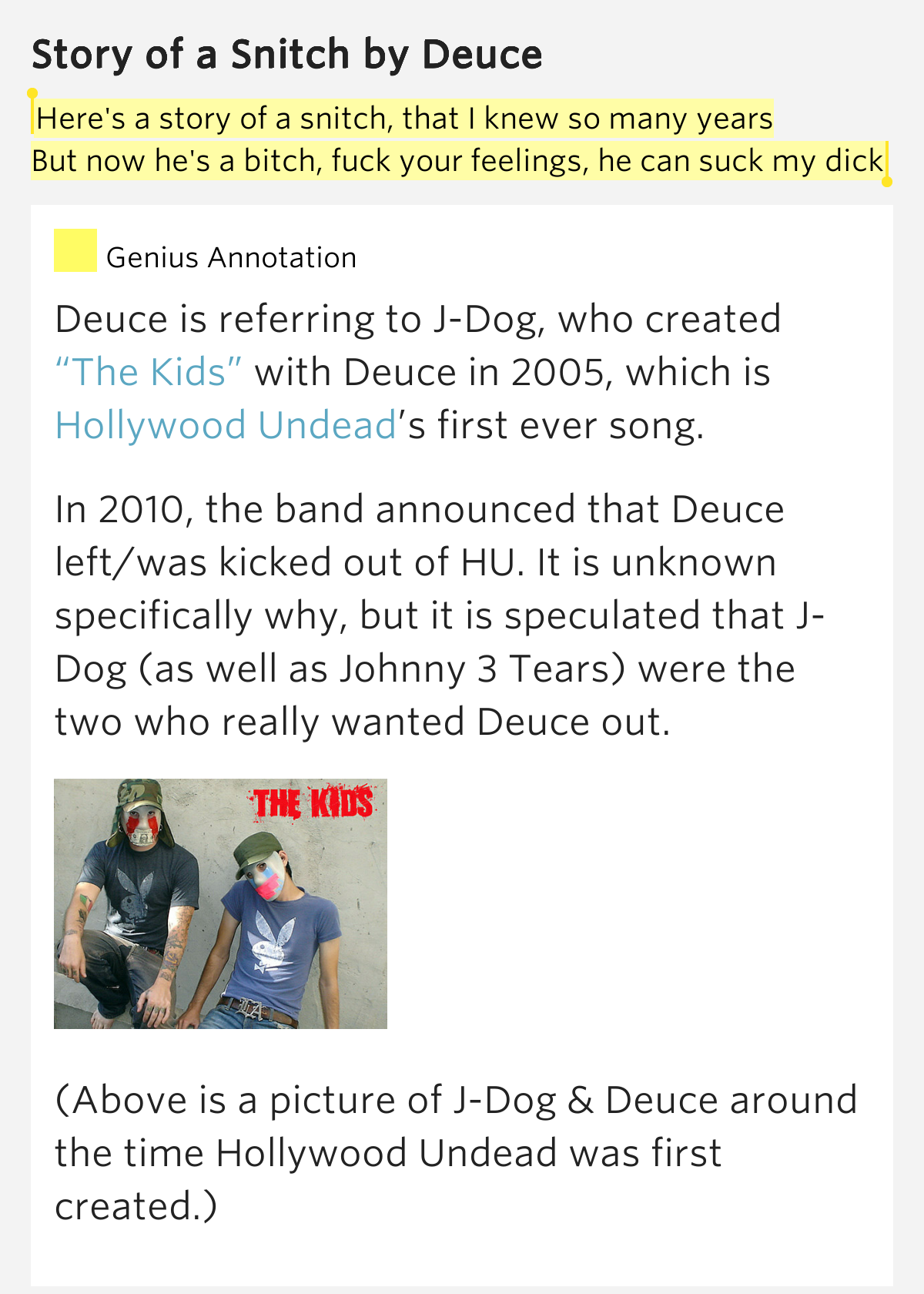 deuce song meaning