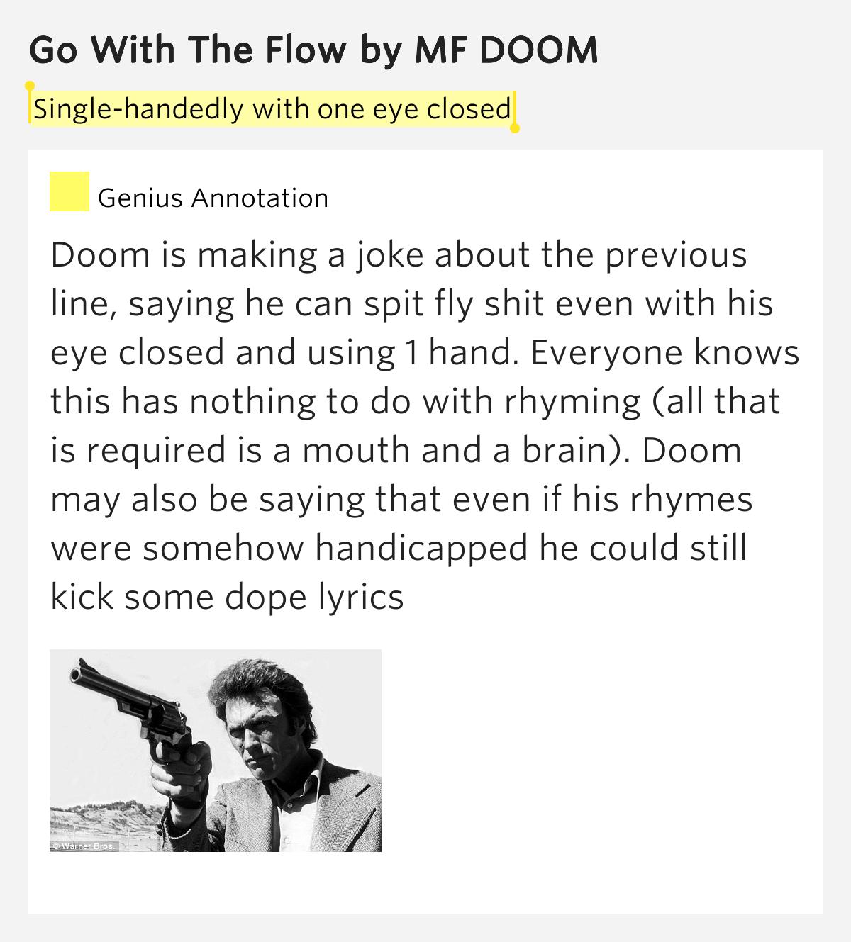 MF DOOM – Go with the Flow Lyrics | Genius Lyrics