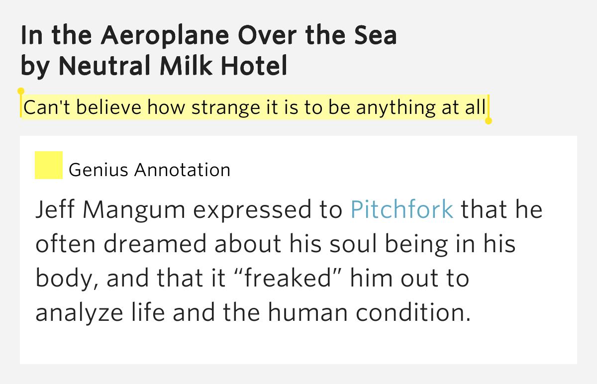 Neutral milk hotel aeroplane over the sea lyrics