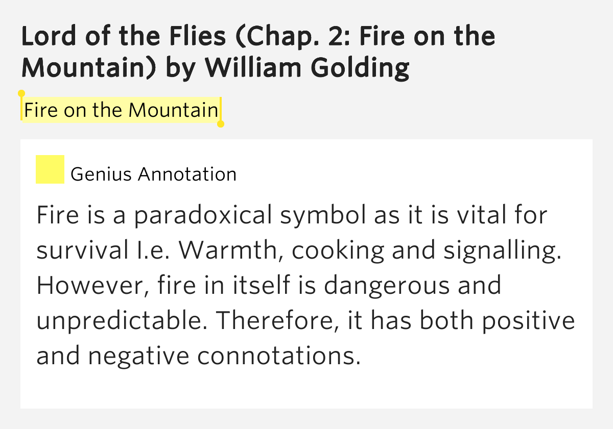 the symbolic microcosm of society in goldings lord of the flies Lord of the flies essay explore the significance of the conch in the lord of the flies in the lord of the flies golding uses the conch as a symbolic, metaphorical-image to represent society and civilisation.