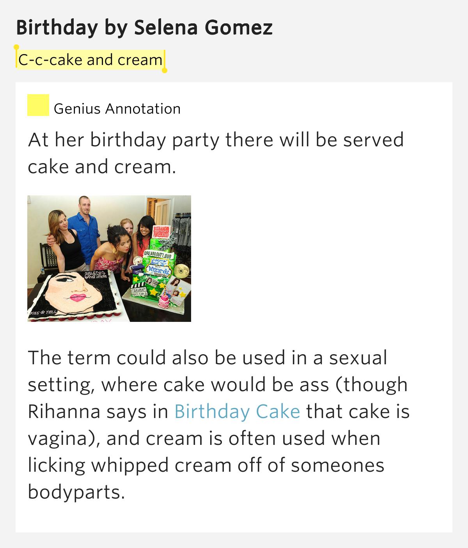 Rihanna Birthday Cake Lyrics Genius