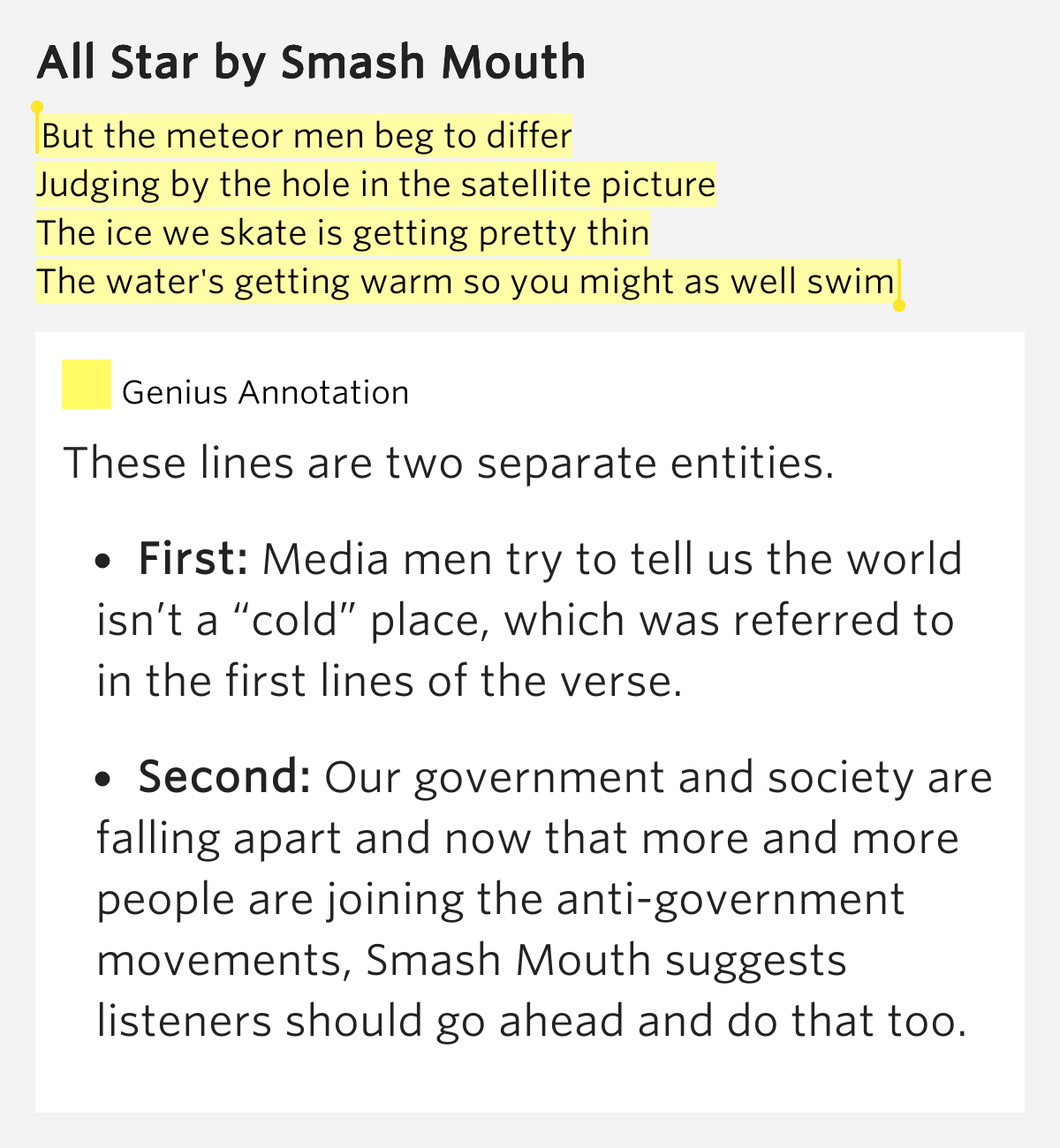 all star lyrics meaning