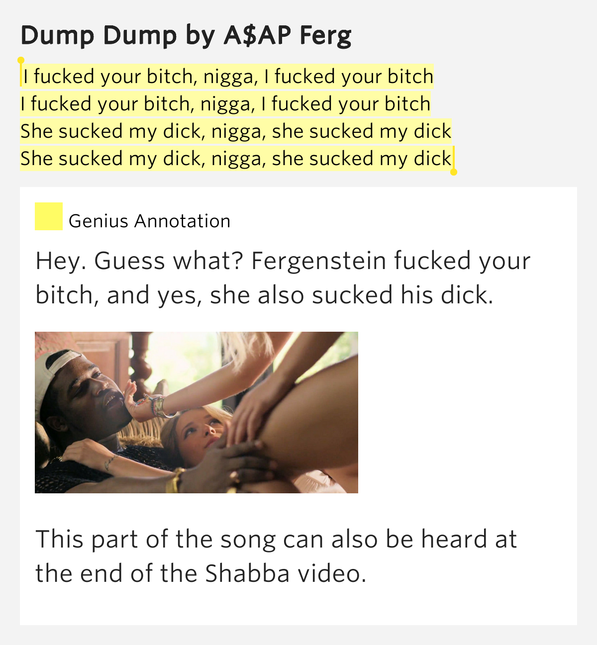 I fucked your bitch