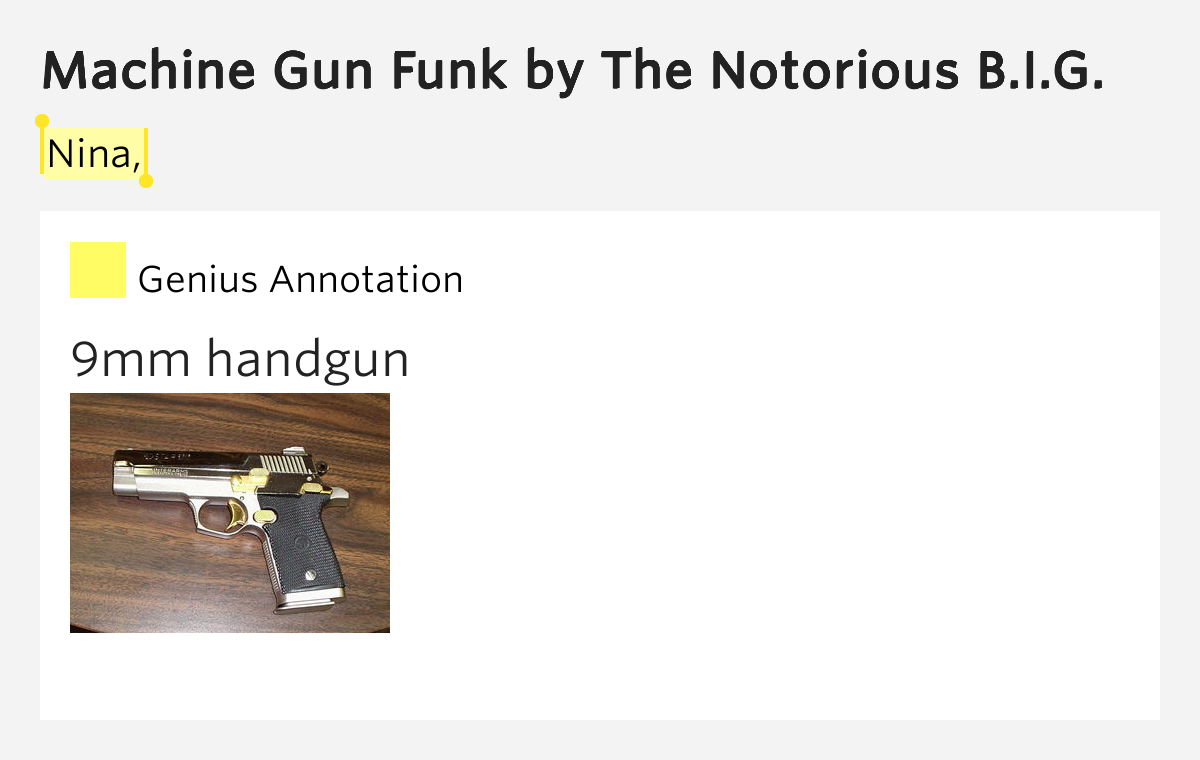 the notorious big machine gun funk