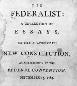 the federalist no 15 alexander hamilton The federalist papers are a series of 85 articles or essays advocating the ratification of the united states constitution alexander hamilton, no 15 when the sword is once drawn, the passions of men observe no bounds of moderation.