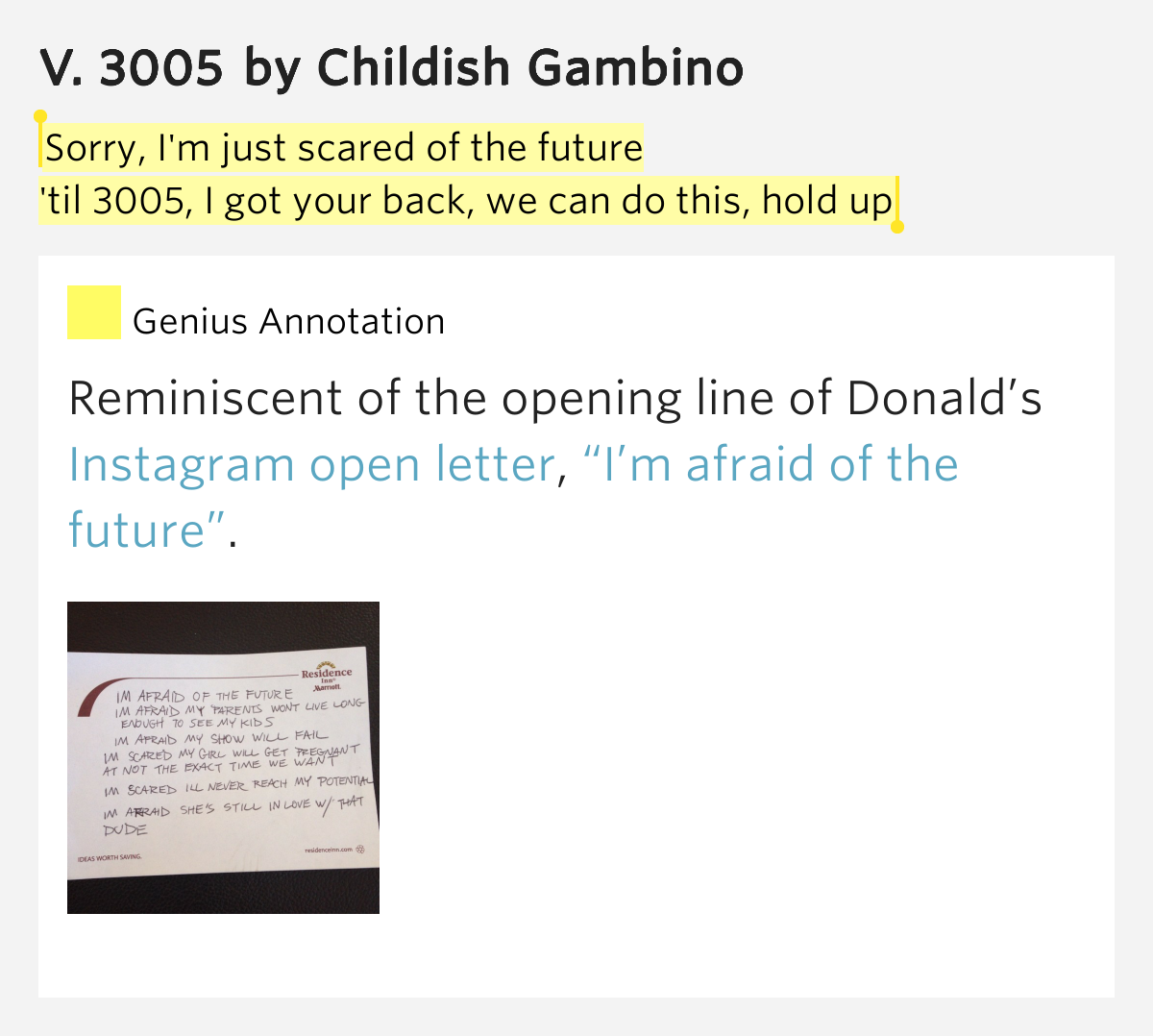 childish gambino lyrics 3005 - photo #19