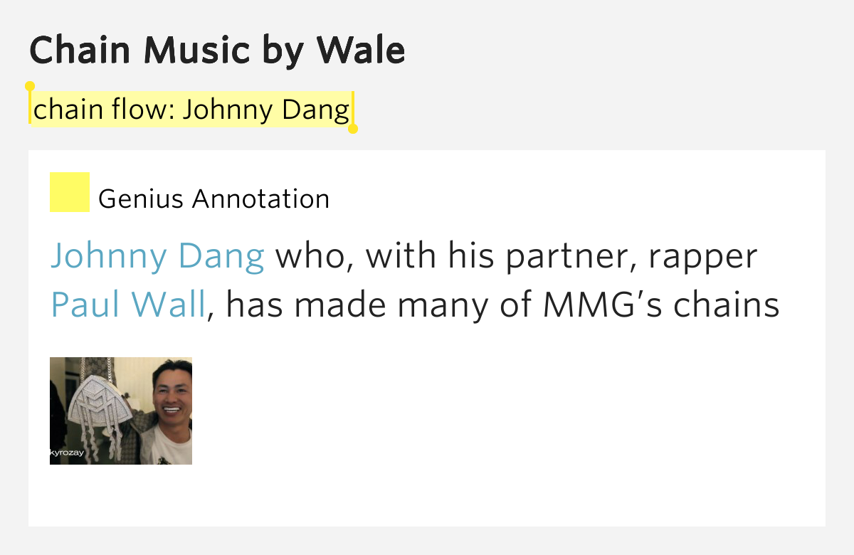 Wale chain music lyrics