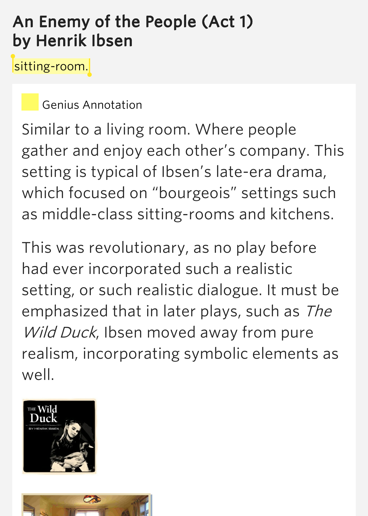an analysis of the play an enemy of the people by henrik ibsen An enemy of the people by henrik ibsen home /  an enemy of the people analysis  an enemy of the people is a totally accessible play it's fast paced, action .