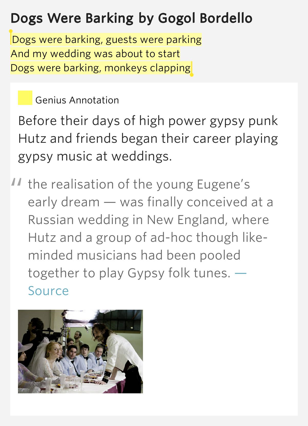 Dogs Were Barking Lyrics