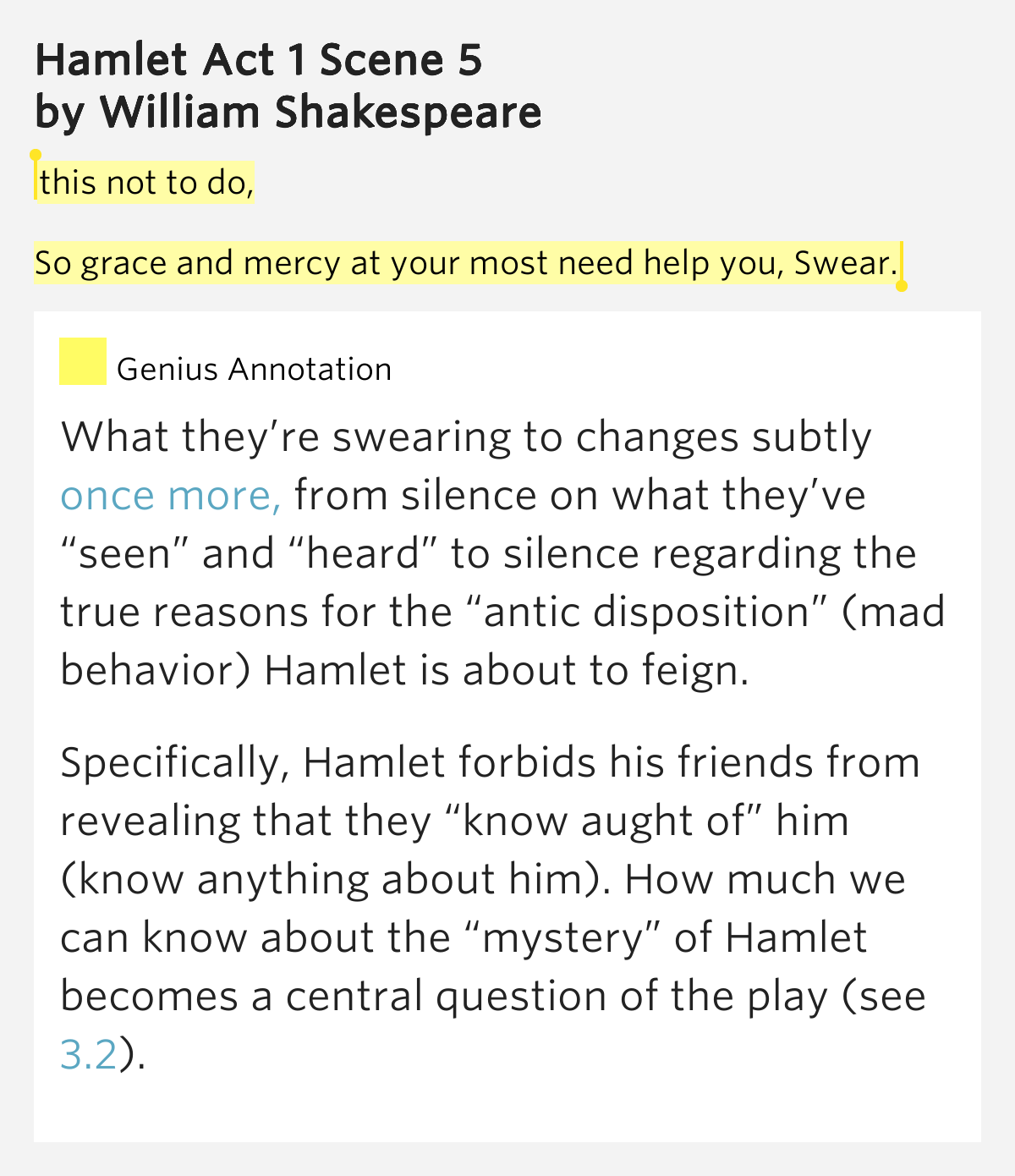 an examination of the behavior of hamlet in william shakespeares play hamlet Characters in hamlet only available on studymode topic: hamlet therefore, in the play hamlet, william shakespeare exemplifies the impact of betrayal on family dynamics throught the use of conflict, dialogue, and irony.