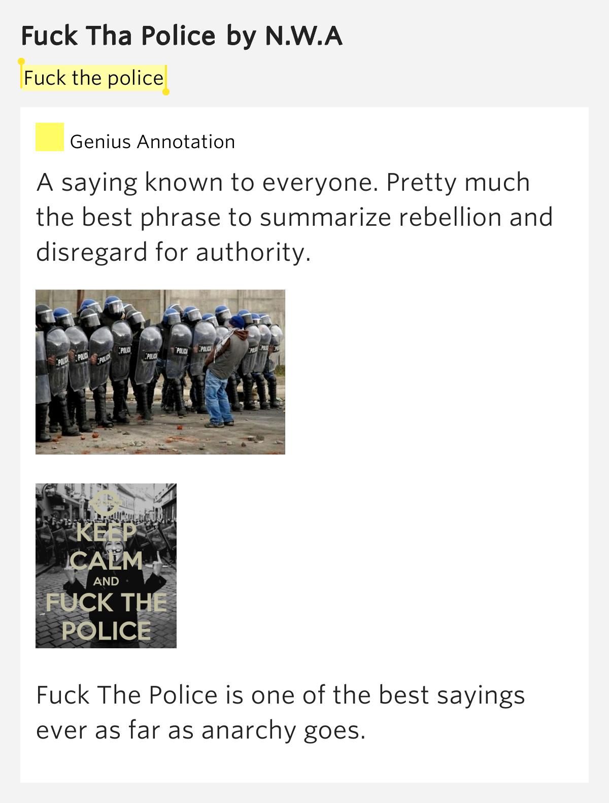 Fuck the police lyrics rage