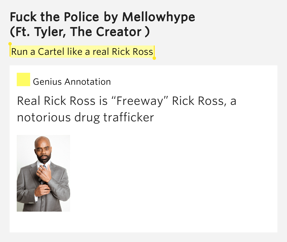 Fuck the police song lyrics