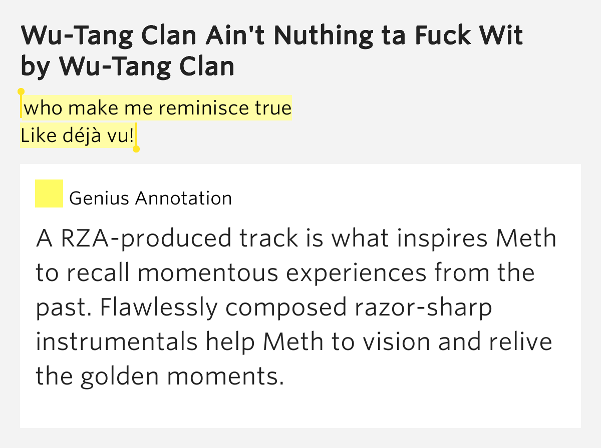 Urban Dictionary: Wu Tang