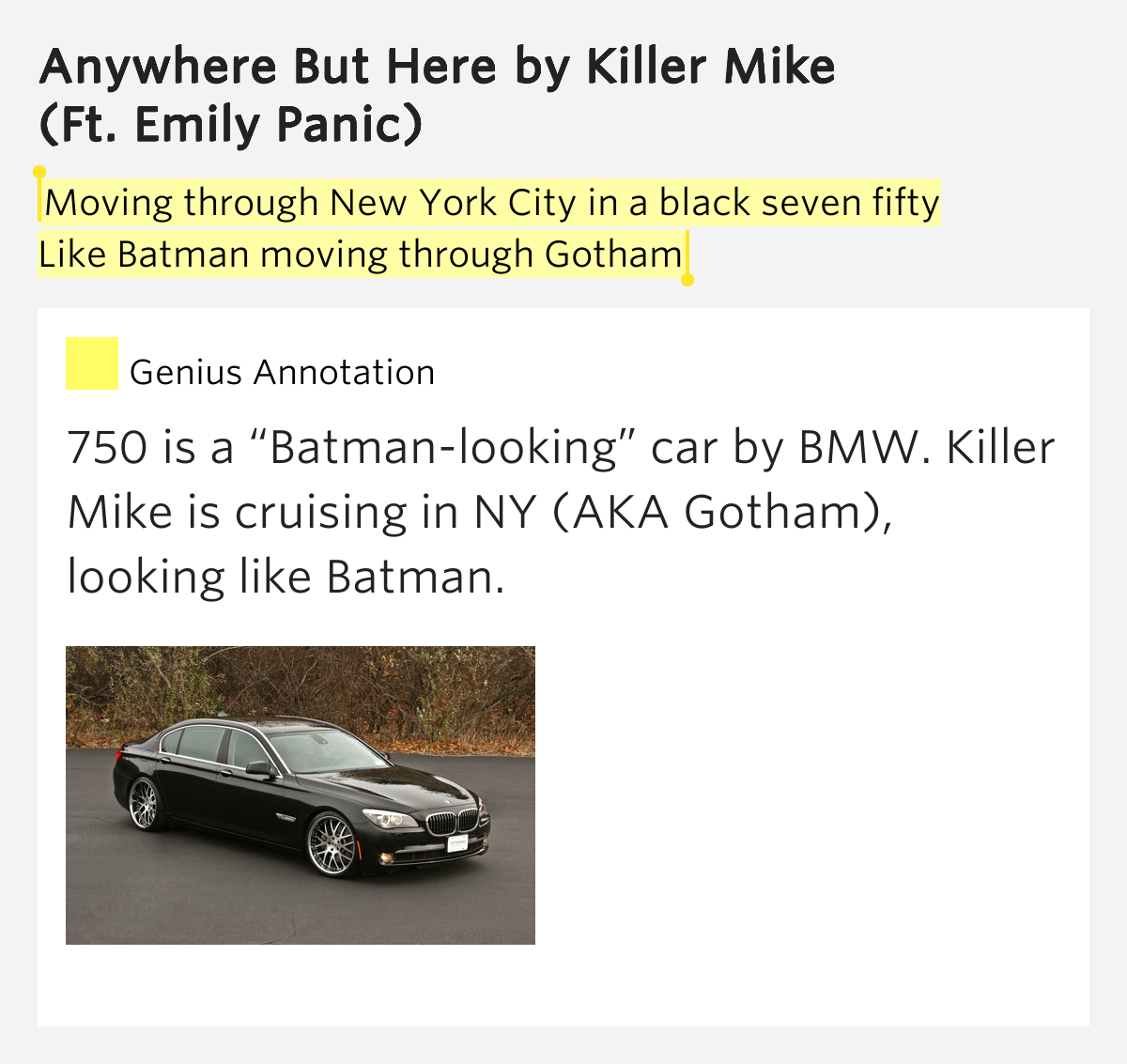Moving through new york city in a black seven anywhere for Moving from new york