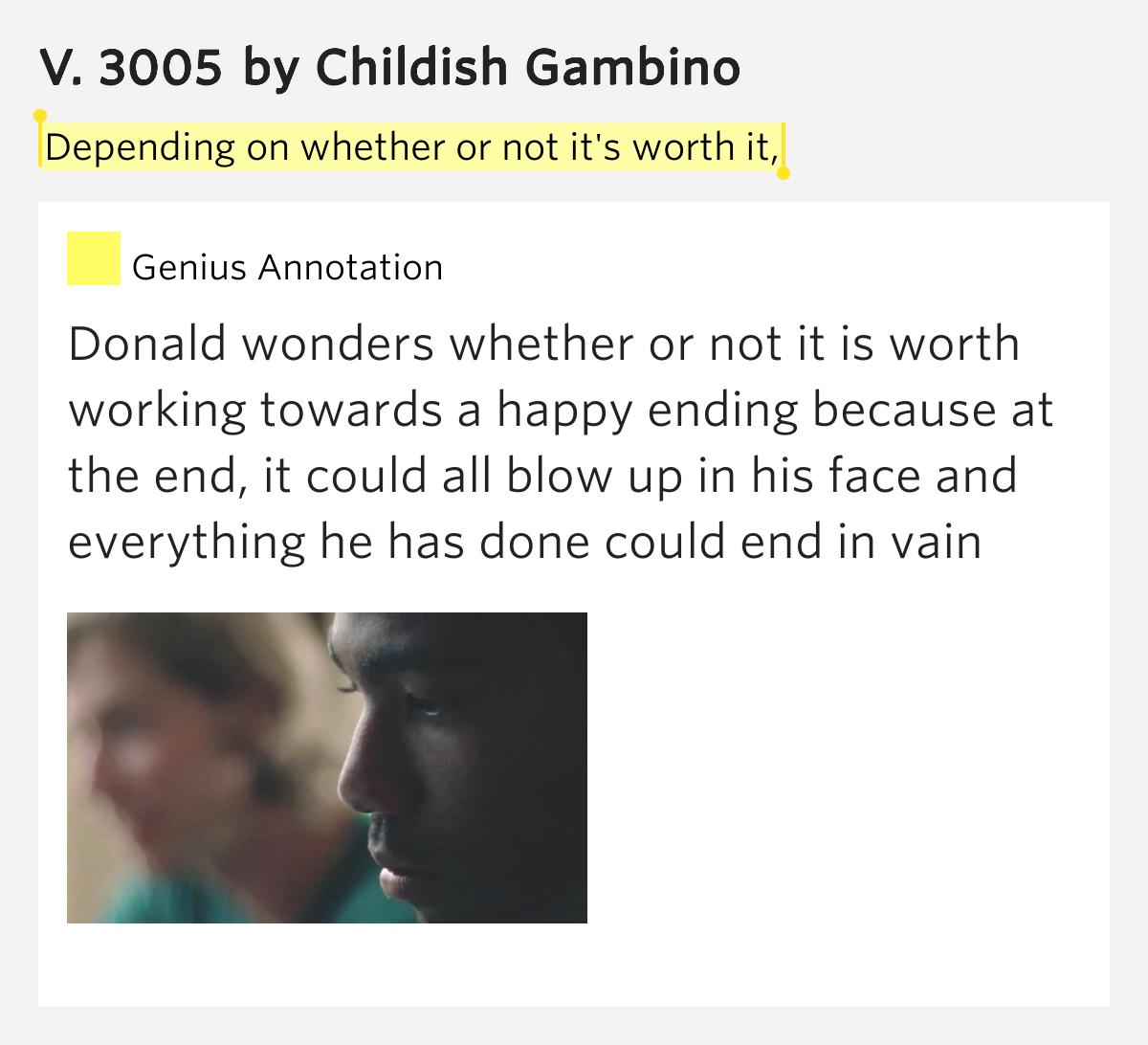 childish gambino lyrics 3005 - photo #6
