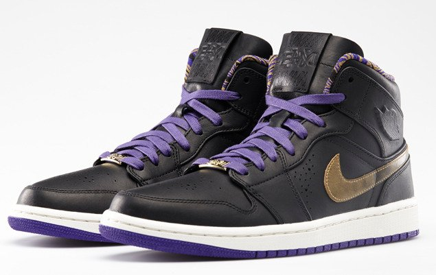 air jordan 1 mid nouveau bhm color black metallic gold court purple style code 629151 009. Black Bedroom Furniture Sets. Home Design Ideas