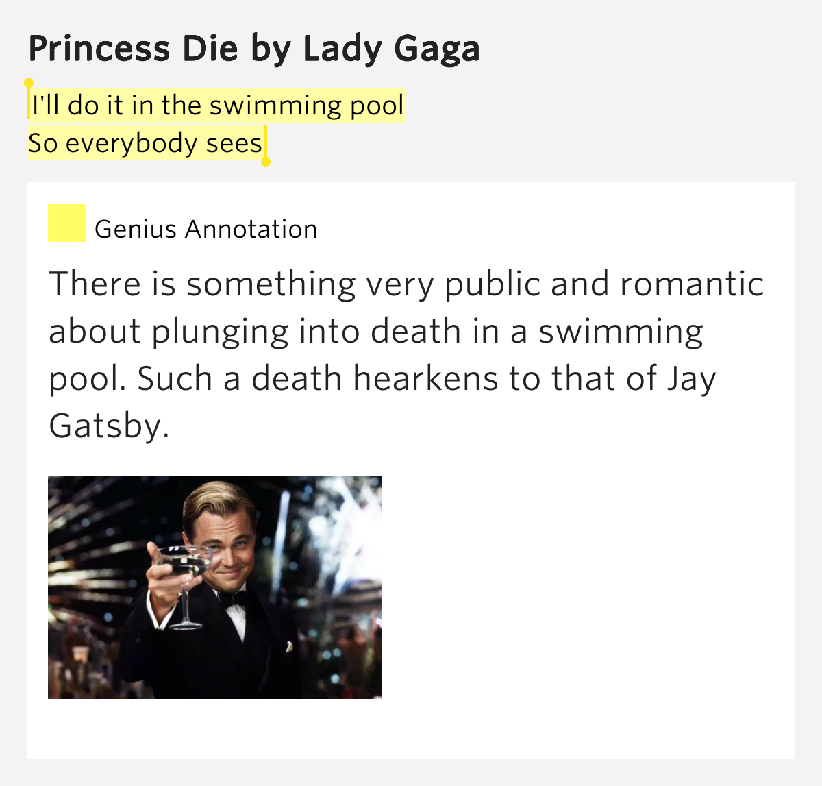 I 39 Ll Do It In The Swimming Pool So Everybody Sees Princess Die