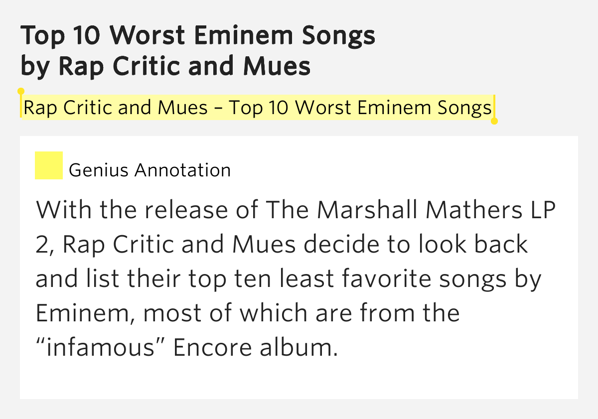 top 10 worst rappers music