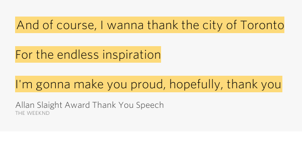 how to write a thank you speech for an award